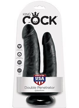 Фаллоимитатор двойной KING COCK DOUBLE PENETRATOR,BLACK DT44702 Pipedream