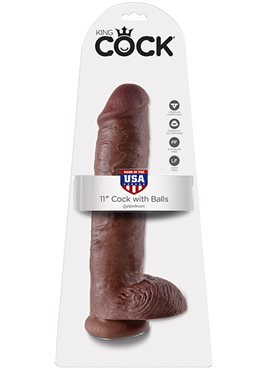 KING COCK 11INCH COCK WITH BALLS BROWN DT45389 Pipedream