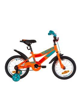 Велосипед детский Formula Kids 14 RACE OPS-FRK-14-004 Оранжево-Бирюзовый 2019