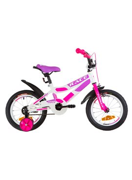 Велосипед детский Formula Kids 14 RACE OPS-FRK-14-006 Бело-Малиновый С Фиолетовым 2019