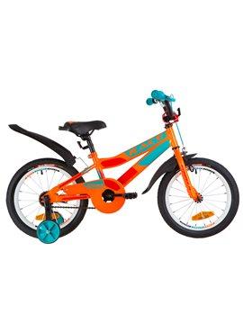 Велосипед детский Formula Kids 16 RACE OPS-FRK-16-072 Оранжево-Бирюзовый 2019
