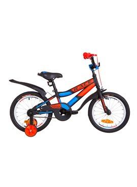 Велосипед детский Formula Kids 16 RACE OPS-FRK-16-075 Черно-Оранжевый С Синим 2019