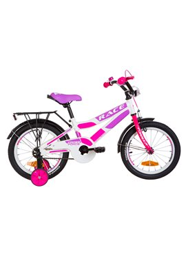 Велосипед детский Formula Kids 16 RACECR OPS-FRK-16-081 Бело-Малиновый С Фиолетовым 2019