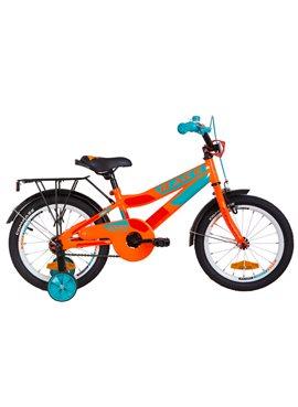 Велосипед детский Formula Kids 16 RACECR OPS-FRK-16-079 Оранжево-Бирюзовый 2019