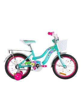 Велосипед детский Formula Kids 16 FLOWER OPS-FRK-16-062 Бирюзовый 2019