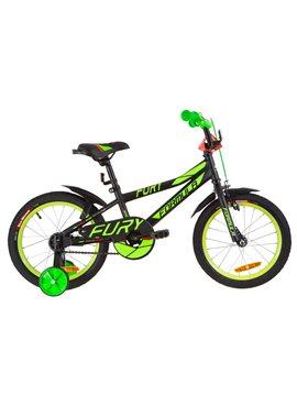 Велосипед детский Formula Kids 16 FURY OPS-FRK-16-064 Черно-Зеленый С Красным 2019