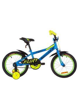 Велосипед детский Formula Kids 16 FURY OPS-FRK-16-066 Голубой С Зеленым 2019