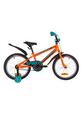 Велосипед детский Formula Kids 18 SPORT OPS-FRK-18-039 Оранжево-Бирюзовый 2019