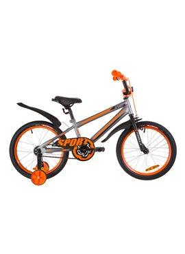 Велосипед детский Formula Kids 18 SPORT OPS-FRK-18-040 Серо-Черный С Оранжевым 2019