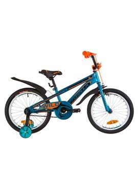 Велосипед детский Formula Kids 18 WILD OPS-FRK-18-033 Бирюзовый С Оранжевым 2019