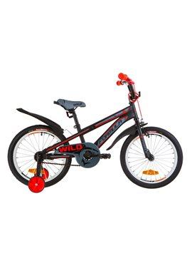 Велосипед детский Formula Kids 18 WILD OPS-FRK-18-034 Черно-Красный 2019