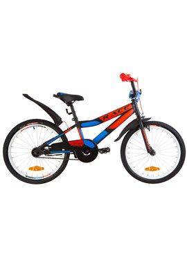 Велосипед детский Formula Kids 20 RACE OPS-FRK-20-070 Черно-Оранжевый С Синим 2019