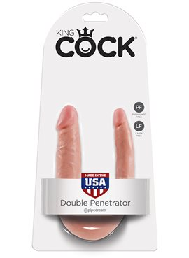 KING COCK S DOUBLE TROUBLE FLESH DT44703 Pipedream