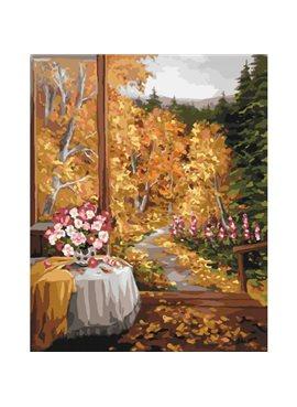 """Картина по номерам """"Волшебный запах осени""""KHO2242"""