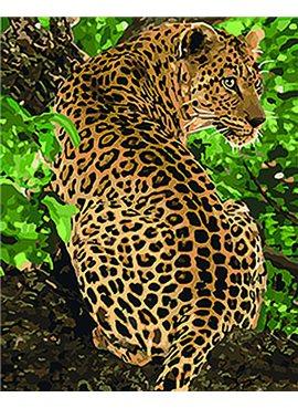 "Картина по номерам. Животные, птицы ""Леопард"" 40*50см KHO4101"