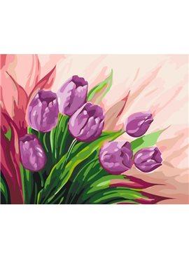 """Картина по номерам. Цветы """"Персидские тюльпаны"""" 40*50 *KHO2924"""
