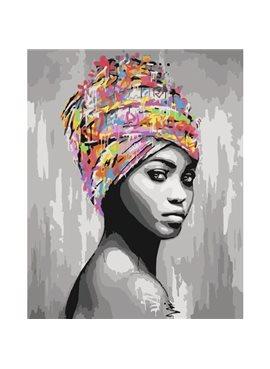 """Картина по номерам.""""Африканськая красота"""" 40*50см KHO4587"""