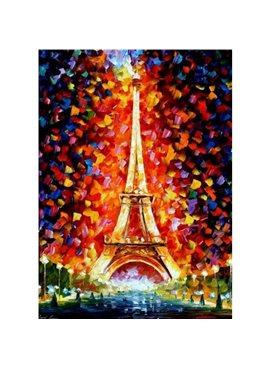 """Картина по номерам. Городской пейзаж """"Эйфелева башня в огнях"""" 40х50см KHO076"""