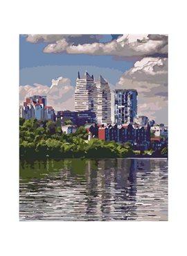 """Картина по номерам. Городской пейзаж """"Любимый город"""" 40*50см KHO2186"""