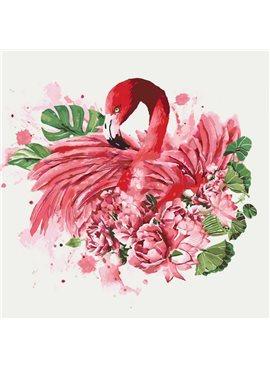 """Животные, птицы """"Грациозный фламинго"""" 40*40см KHO4042"""