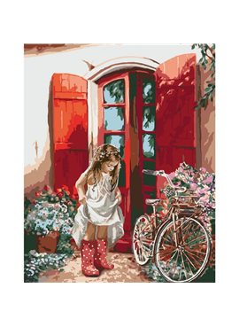 """Картина по номерам. Дети """"Маленькая принцесса"""" 40*50см * KHO2324"""