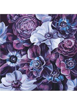 """Картина по номерам. Букет """"Фиолетовое разнообразие""""40*40см * KHO3016"""