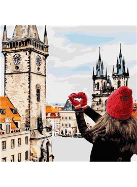"""Картина по номерам. Городской пейзаж """"С любовью в сердце """" 40*40см * KHO3523"""