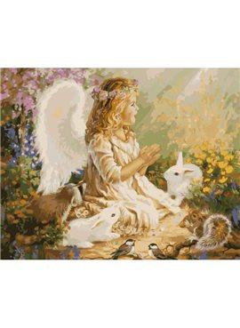 """Картина по номерам """"Ангел""""KHO2306"""