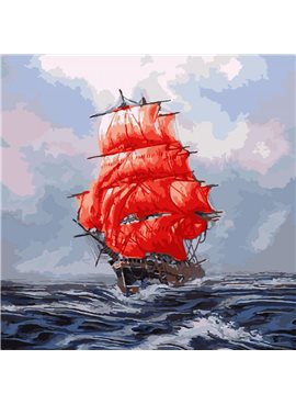 "Картина по номерам. Морской пейзаж ""Алые паруса""KHO2709"