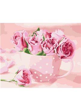 """Картина по номерам. Цветы """"Чайные розы""""KHO2923"""