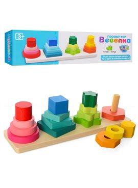 Деревянная игрушка Геометрика MD 1216