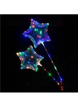 Шарики надувные MK2075-1 BOBO, звезда, свет, гирлянда 3м, на палке70см, на бат-ке