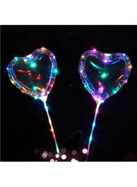 Шарики надувные MK 2075-2 BOBO, сердце,свет, гирлянда 3м, на палке70см, на бат-ке