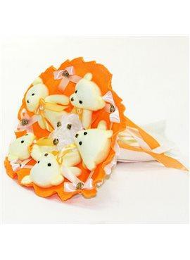 Букет из игрушек Мишки 5 оранжевый 5345IT