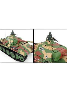 Танк HENG LONG Panther Type G р/у аккум 3879-1, 1:16, дым,звук,вращ.башня,пневм.орудие
