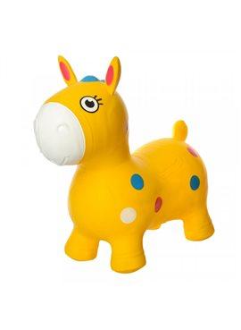 Прыгуны-лошадки MS1582Yellow, 1300г, в кульке, 29-25-10см