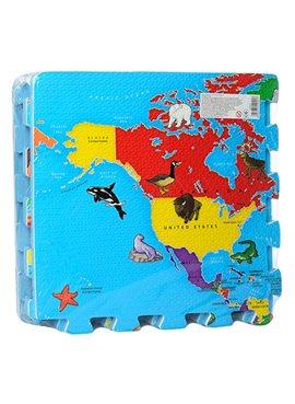 Коврик Мозаика M 2612 EVA карта мира