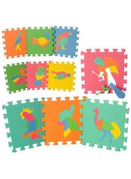 Коврик Мозаика M 0387 EVA,птицы,10 дет (8 мм,29-29 см), пазл ,в кульке