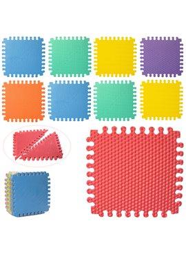 Коврик-мат M 5735 EVA, напол.покрыт,треугольники,18дет(9мм,30-30см),7текстур,в куль,30-30-9см