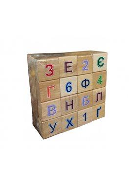 Азбука деревянная цветная 11201