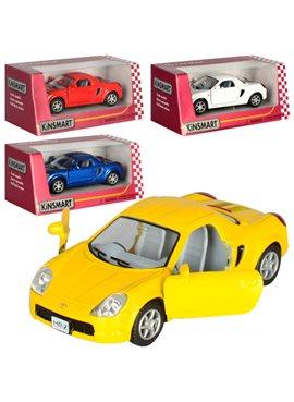 Машинка KT5026W (Toyota MR2) металл,инер-я,10-4-5,5см,откр.дв,рез.колеса,4цвета,в кор-ке,12,5-12-6см