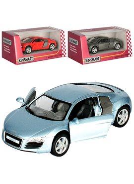Машинка KT5315W (Audi R8) металл,инер-я,12,5см,1:36,откр.двери,рез.колеса,в кор-ке,16-7,5-8см