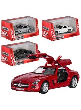 Машинка KT5349W (Mercedes-Benz SLS AMG) металл, инер-я, 12,5см, 1:36, 4цвета, в кор-ке, 16-7,5-8см
