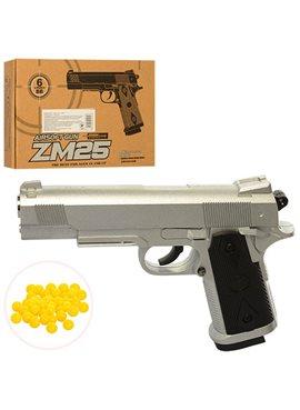 Пистолет метал ZM25 пульки в кор.21,5*15,5*4,5см
