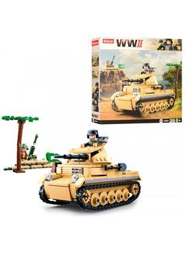 Конструктор SLUBAN M38-B0691 военный, танк, фигурка, 356 деталей