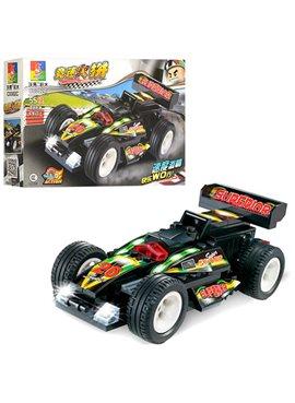 Конструктор C0302A гоночная машина,инер-я,рез.колеса,от 55дет,в кор-ке,23-14-4,5см