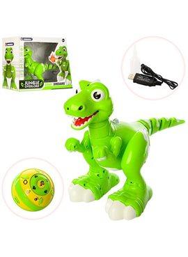 Динозавр 908A р/у, аккум,32см,ездит,танцует,звук,свет,USBзаряд, в кор-ке,40-29,5-17см