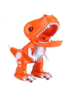 Динозавр FK602A(GREEN) р/у, 19см, свет, звук, ездит, на бат-ке, в кор-ке, 25,5-19-11,5см