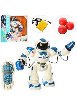 Робот 1029A р/у,аккум,41см,муз,зв(англ),св,ходит,танц,стрел.шарик(3шт),USBзар,кор,49-50-19,5см