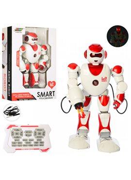 Робот K2 р/у,аккум,39см,муз,зв(англ),стрел.пул,ходит,ездит,свет,програм,USBзар,кор,31-44-12см